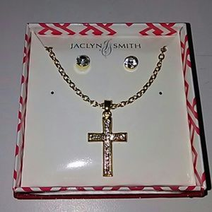 ✨✨3×$15.00✨✨Jaclyn Smith necklace and earrings set